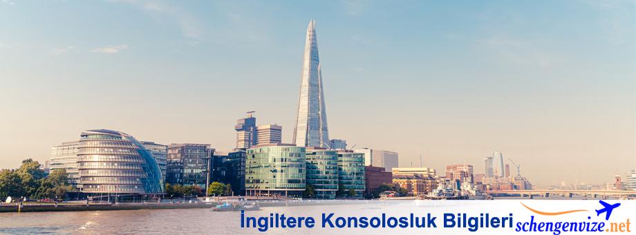 İngiltere Konsolosluk Bilgileri, İngiltere Konsolosluk Bilgileri