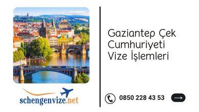 Gaziantep Çek Cumhuriyeti Vize İşlemleri