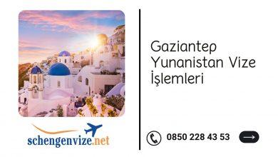 Gaziantep Yunanistan Vize İşlemleri