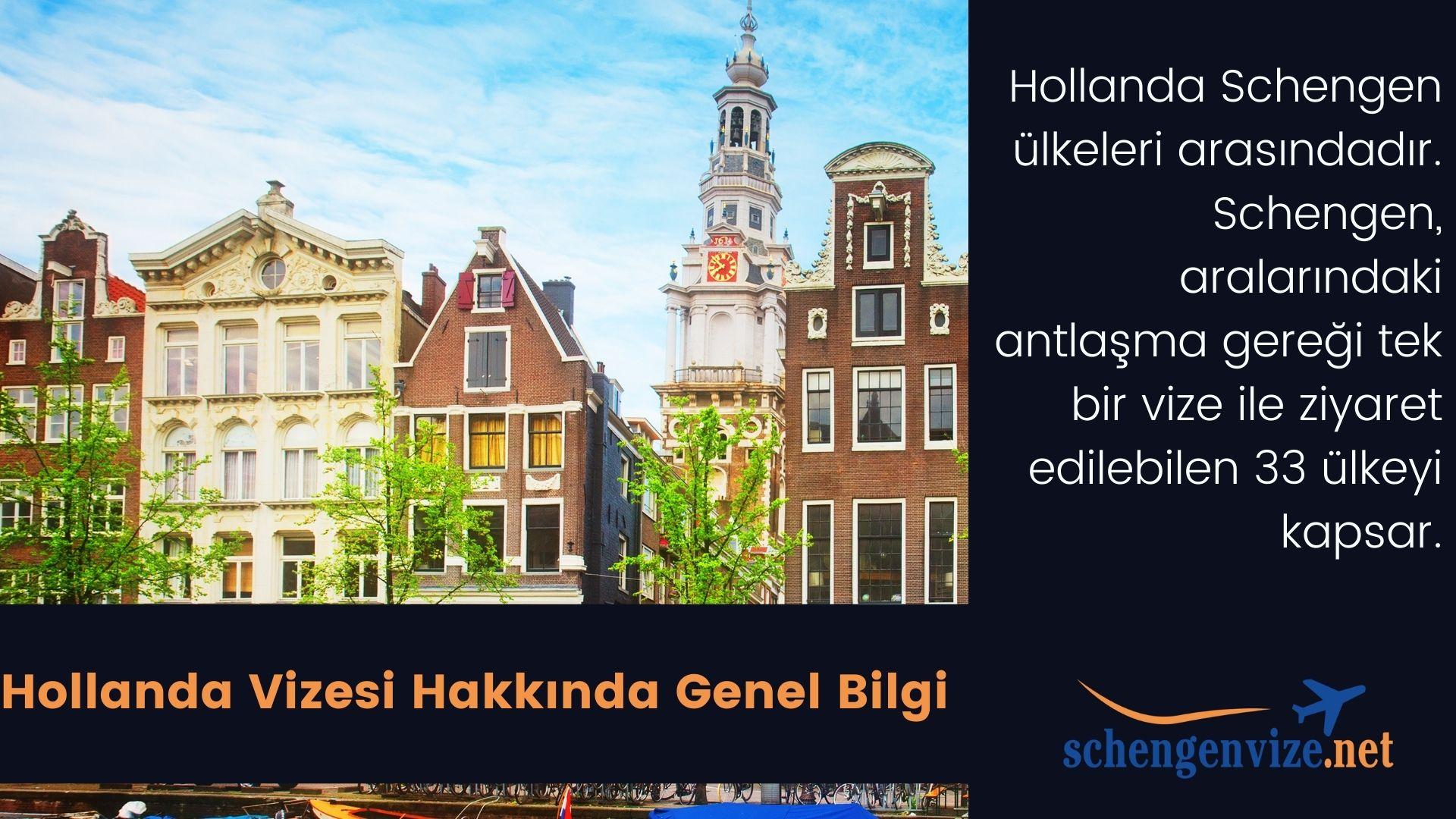 Hollanda Vize Evrakları & Ücreti