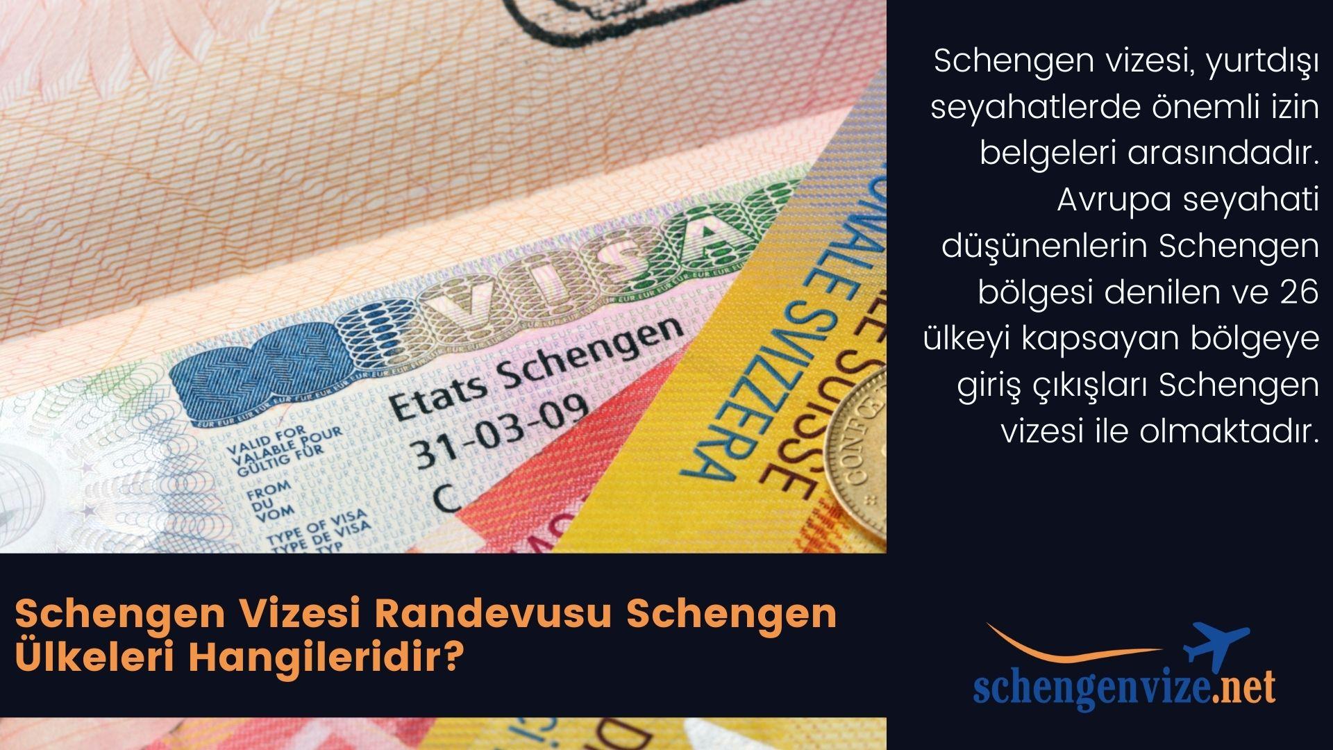 Schengen Vizesi Randevusu Schengen Ülkeleri Hangileridir?