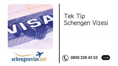 Tek Tip Schengen Vizesi